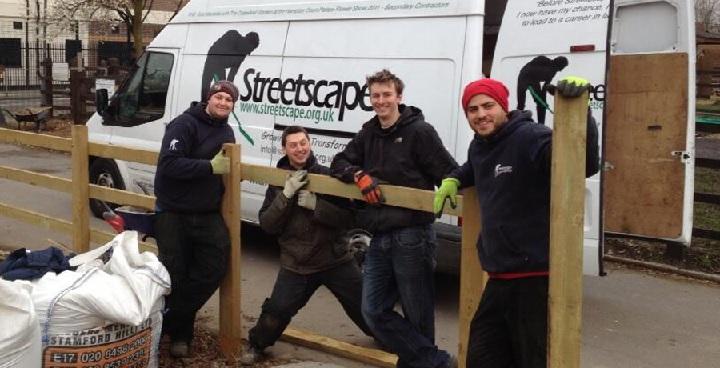 Streetscape team at Stepney City Farm