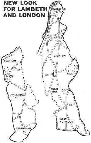 Map - New Lambeth Boundaries 1965