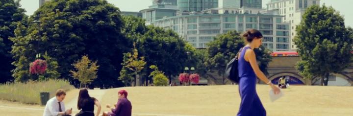 View across Vauxhall Pleasure Gardens on summer day