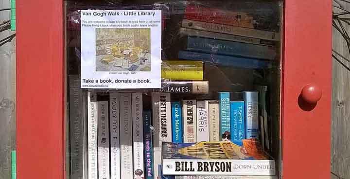 Van Gogh Walk's little library