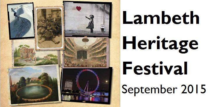 Lambeth Heritage Festival 2015 programme