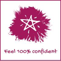 Feel 100% confident
