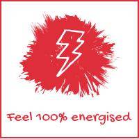 Feel 100% energised
