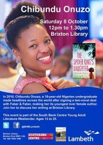 Chibundu Onuzo visits Brixton Library