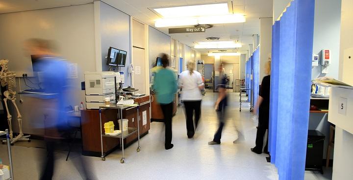 General photo of NHS hospital ward