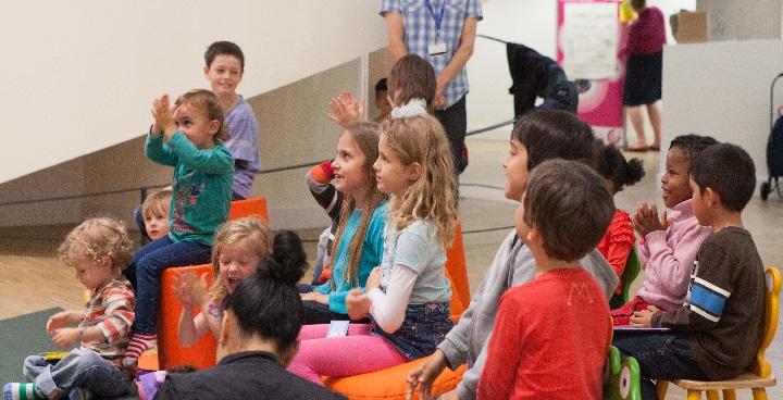 Children enjoying Wriggle & Rhyme