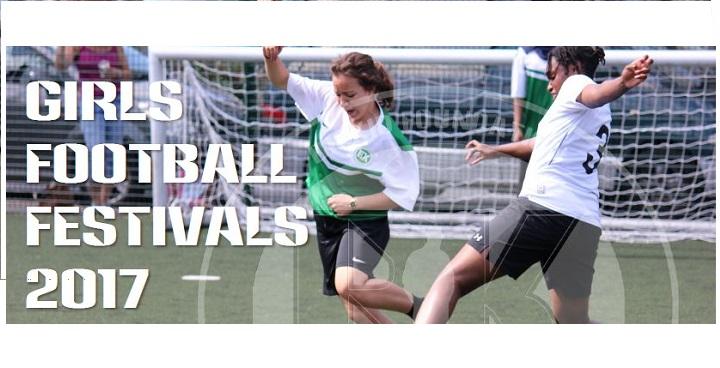 Girls football festival poster