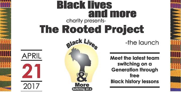 Black Lives - social event flyer