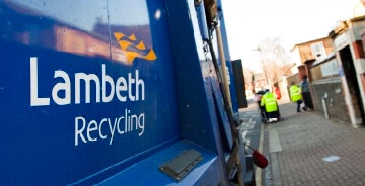 Lambeth recycling truck
