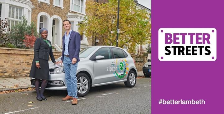 Car sharing in Lambeth gets a boost with Zipcar Flex