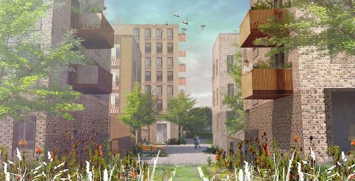 CGI of the proposed new Westbury Estate