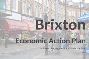 Brixton Economic Action Plan overlaid on external image of Electric Avenue