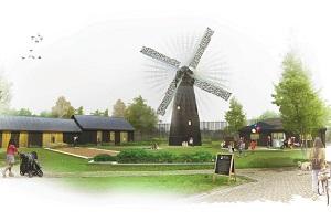Watercolour of Brixton Windmill