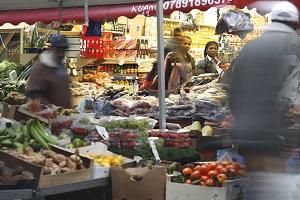 Bustling Brixton street market
