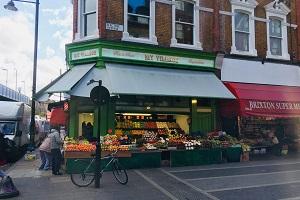 Fruit and veg corner shop in Brixton