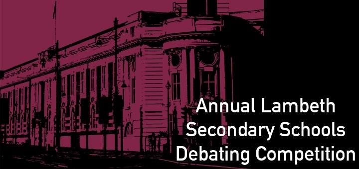 Lambeth school debating competition 2018