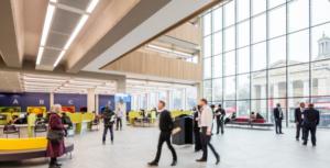 Interior shot of the Lambeth Civic Centre reception and customer centre