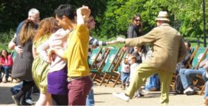 Clapham Common music dad dancing