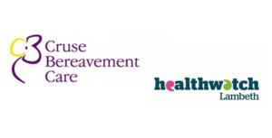 Cruse Bereavement Service and Healthwatch lambeth logos