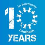 10 years in Harmony logo