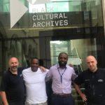 Team of decorators at Black Cultural Archive