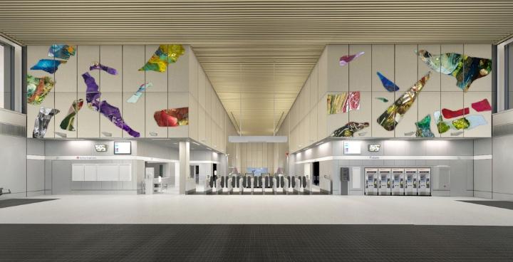 Nine elms underground station art