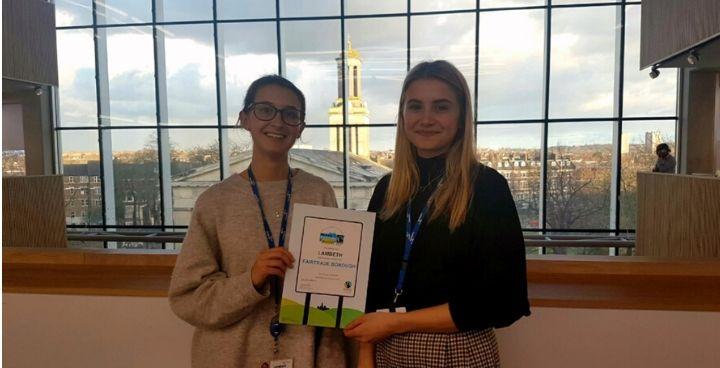 Lambeth Council awarded Fairtrade status