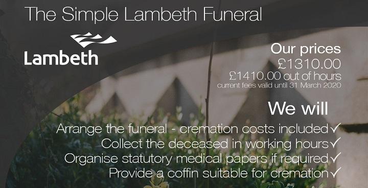 Lambeth Simple Funerals flyer