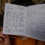 A school child's diary under lock-down, Anon
