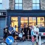 hip hop crew in Brixton street
