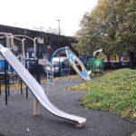 Wyck Gardens new slide and circular climbing wall