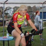 Dr Morris women's champion Slade Gardens cyclist fundraiser