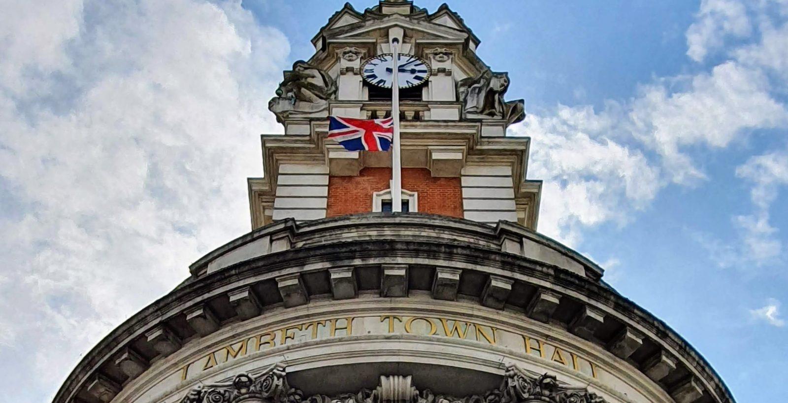 Town Hall half-mast