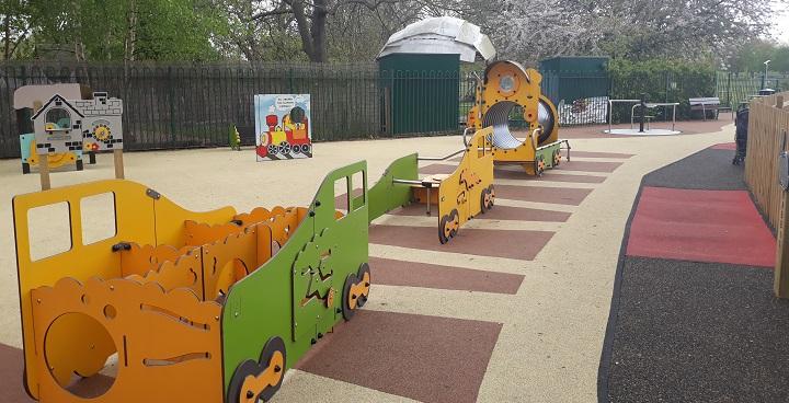 New equipment at Clapham Playground