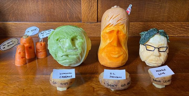 vegetable scupltures 2020