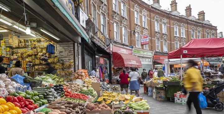 Brixton market veg stall