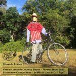 Lambeth Country Show scarecrow winner straw de france