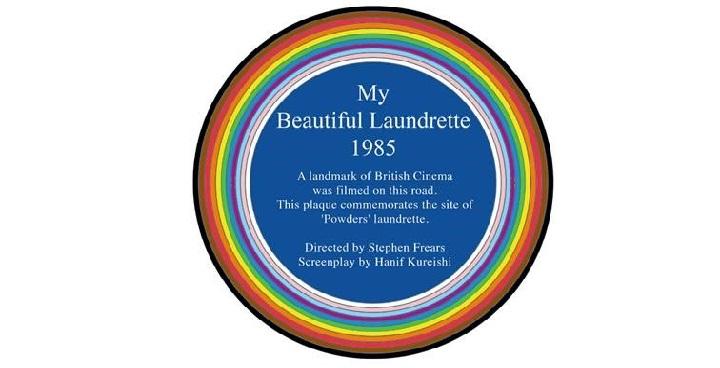 rainbow Plaque for 'My Beautiful Laundrette'