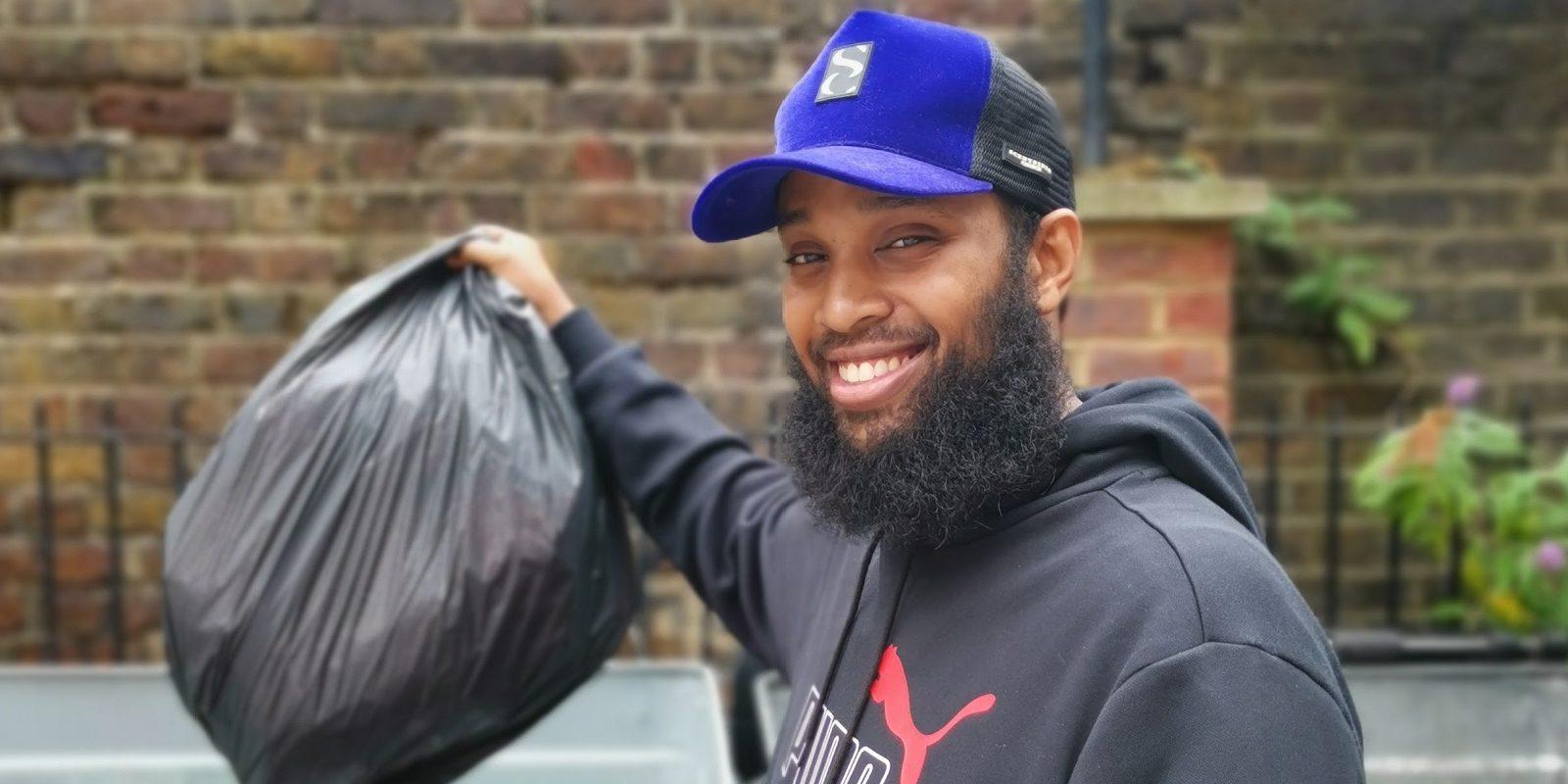 cllr hashi 'one bag a week' rusbbish challenge