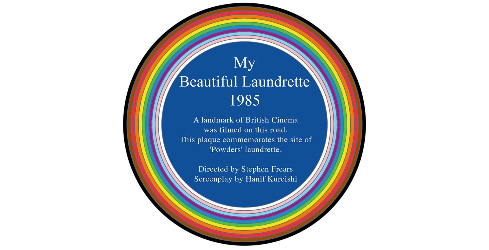 Rainbow plaque for My Beautiful Laundrette